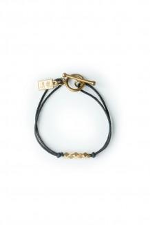 Brass & thread bracelet - black