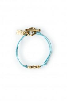 Brass & thread bracelet - mist
