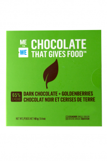 ME to WE Chocolate That Gives Food™  – Dark Chocolate + Goldenberries