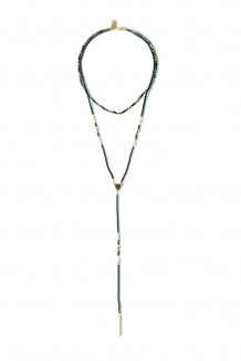 Convertible Lariat Necklace - Gray