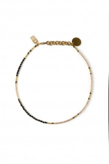 Dot Wrap Choker - Iridescent