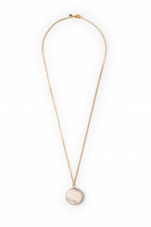 Full moon necklace - white