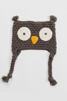 Krochet Kids Kid's Hat - the Hoot - grey (1-2 years)