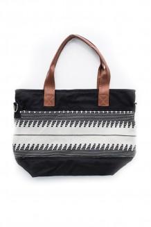 Krochet Kids - the Cooper tote bag - black/eggshell