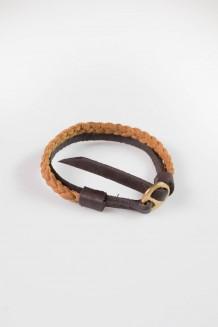 Ngozi Braided Bracelet - Nubuck