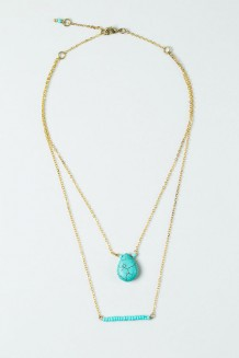 Turquoise Drop Necklace - Turquoise