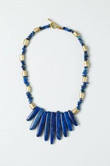 Lazuli Infinity Necklace - Lapis