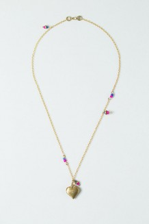 Colour Drop Charm Necklace – Heart