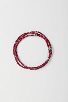 Patterned Beaded Rafiki - Raspberry