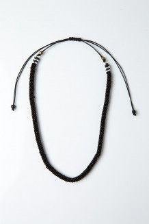 Beaded Choker - Black - Black