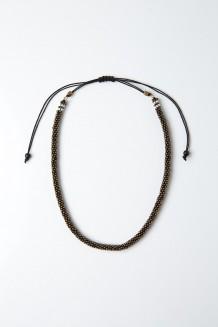 Beaded Choker - Hematite - Silver