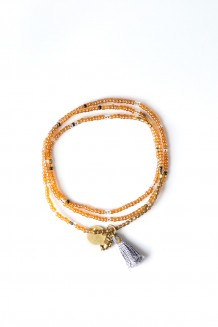 Brass Paillette and Tassel Rafiki - Neutral