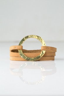 Brass Ring Wrap Bracelet - Nubuck - Nubuck