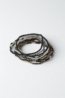 Hakuna Matata Bracelet Set - Black - Black