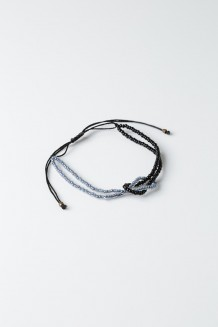 Knotted Bead Bracelet - Periwinkle