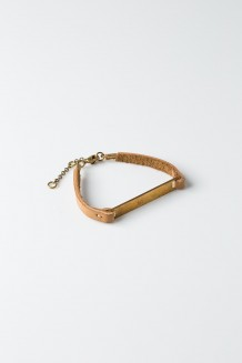 Leather Bar Bracelet - Nubuck - Nubuck