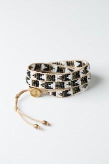 Mambo Wrap Bracelet - Black & White