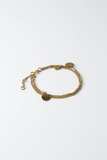 Paillette Chain Bracelet - Brass