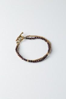 Lazuli Faceted Bracelet - Red Agate
