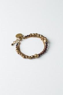 Lazuli Infinity Bracelet - Red Agate