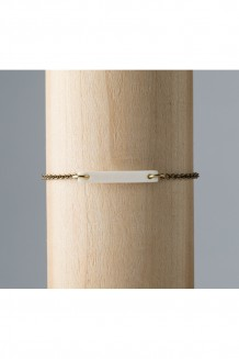 Savannah Bar Bracelet - White