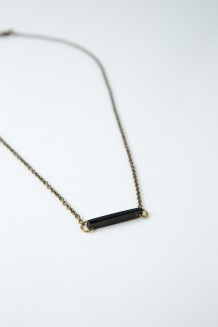 Savannah Bar Necklace - Black