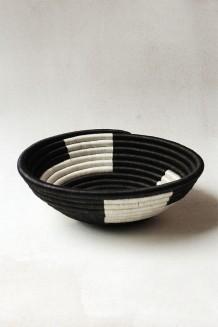 Indego Africa – Plateau Basket - Black Zig Zag