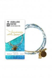 #GirlLove Rafiki Bracelet  - Blue & Gold
