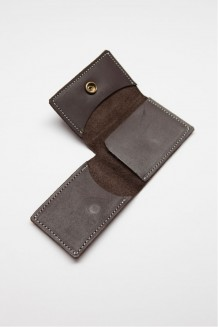 Mkoba Double-Fold Wallet - Dark Brown - Brown Leather