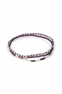 Triple bracelet set –  purple