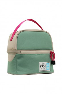 Me to We Hand Held Lunch Bag - Pink and Green - Pink and Green