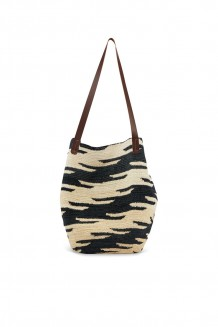 Shigra Cabuya Tote - Black and White