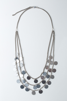 Paillette Necklace - Silver
