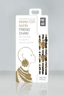 Mama Toti Rafiki Bracelet - Black & Gold - Black & Gold