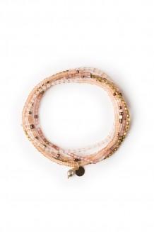 Heshima five wrap Rafiki bracelet - blush