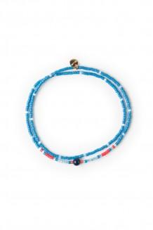 Kanzi double wrap bracelet - dark teal