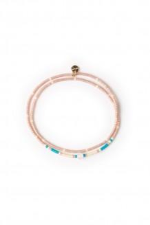 Kanzi double wrap bracelet - dusty pink