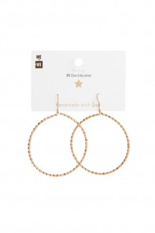 Brass and bead hoops - brass & blush