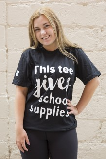 WE Give School Supplies T-Shirt