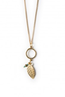 Roho charm necklace - leaf
