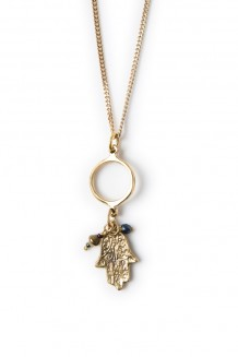 Roho charm necklace - hand of Fatima
