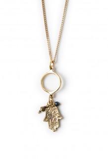 Roho charm necklace - hand of Fatima