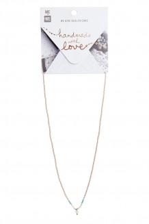 Maridadi Drop necklace - blush