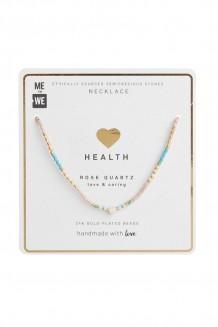 Semiprecious Uzuri necklace - rose quartz