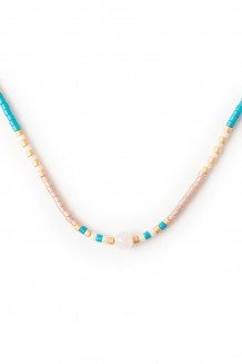 Semiprecious Uzuri necklace - rose quartz