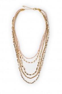 Zuri necklace - rose quartz