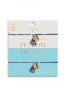 Just the Two of Us Rafiki Bracelet Set - Water