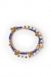 Jua faceted Rafiki bracelet - royal blue
