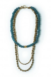 Sayari convertible necklace - sea glass