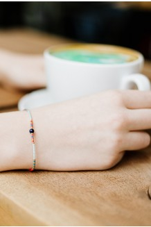 Semiprecious Tamaa bracelet - blue moon quartz